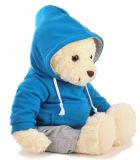 Brinquedo enchido macio do urso da peluche do luxuoso do coração vermelho da promoção