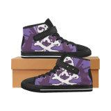 Dropshippingの工場昇華習慣は靴に標準的な男女兼用のHicutを010足のキャンバスのスニーカー作る