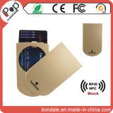 クレジットカードのケースを妨げる卸し売り保護RFID