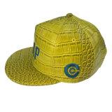 Tampão amarelo do plutônio da cor com bordado