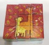 brinquedo de madeira do bloco do enigma de seis lados 9PCS para miúdos e crianças