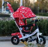 A qualidade superior 4 em 1 triciclo de crianças caçoa o triciclo do bebê do triciclo