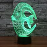 Свет ночи творческого изумительный 3D обмана зрения акриловый СИД