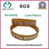Fascia del silicone/braccialetto/Wristband del silicone stampati marchio promozionale