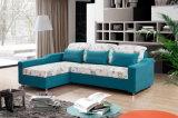 Ткань L образный диван-кровать с хранения (VV979)