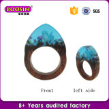 Ringen van het Hout en van de Hars van de Juwelen van de Bloem van de Manier van de douane de Echte Natuurlijke