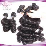 человеческие волосы 7A Unprocessed Remy связывают перуанские свободные волнистые волос девственницы