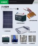 Luz de rua solar do fabricante com o painel solar de Pólo da turbina de vento