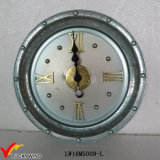 Reloj de pared de metal decorativo hermoso del arte de la antigüedad