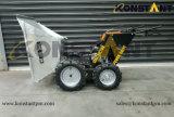La E avvia il mini scaricatore del motore con la doppia benna del TUFFO caldo di Galvanzing e della rotella anteriore