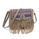 Frangia della stampa floreale di modo di stile e sacchetti europei delle donne delle borse delle nappe