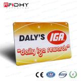 Cartão do ISO RFID do PVC do tamanho Cr80 para o uso da sociedade do VIP