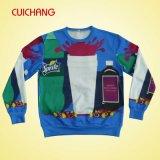 Las camisetas al por mayor de la alta calidad, crean Sweashirts para requisitos particulares, camisetas de Crewneck, impresión de la sublimación