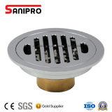 Dreno de assoalho redondo do chuveiro do Drainer de Sanipro com filtro removível