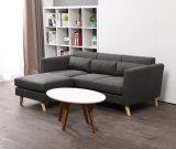 Il tessuto L sofà dell'angolo del sofà ha impostato per il salone moderno
