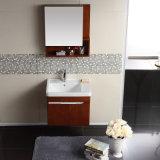 Module de salle de bains moderne fixé au mur en bois solide de type