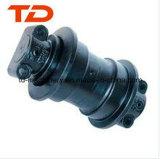 日立Ex70 Ex100掘削機の下部構造は鋳造トラックローラーの鎖のローラーを分ける