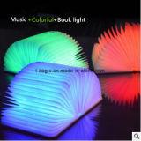 소형 다채로운 테이블 램프 LED 나무로 되는 Bluetooth 책 빛 스피커