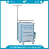 Emergency Sorgfalt AG-It006b1 medizinische ABS Behandlung-Multifunktionslaufkatze