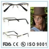 Spätester Entwurf Hälfte-Rahmen Brille Eyewear optische Glas-Rahmen