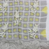 صنع وفقا لطلب الزّبون 100% حرير يطبع شال مع تطريز ([أم170609-3])