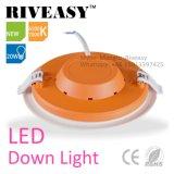luz de painel Ultra-Thin redonda do diodo emissor de luz do acrílico 3W para a lâmpada interna