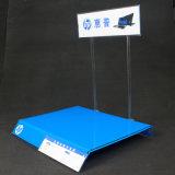 Carrinho de indicador acrílico do portátil com logotipo ou preço
