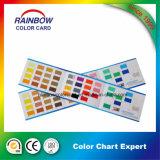 Tarjeta decorativa del color de los dobleces de la capa tres