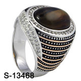 Juwelen 925 Zilveren Ring Twee van de manier Kleuren plateerden de Arabische Ringen van Mensen