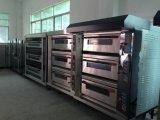 Horno eléctrico de la panadería de la bandeja comercial Deck/9 del equipo 3 con la Alambre-Calefacción