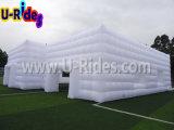 De dubbele Sport van de Tent van de Kubus van de Zaal Witte Opblaasbare