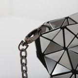 saco Rhombic das senhoras do plutônio da prata do tamanho 5X8 (16A060)