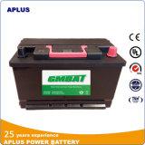 Großhandels belastete wartungsfreie Autobatterien 12V80ah DIN80 58043mf naßmachen