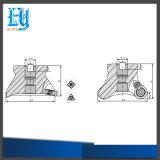 Herramientas del cortador del molino de cara de los accesorios Emr5r-S50-22-4t del CNC para la fresadora