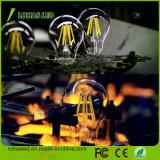 Luz de bulbo branca morna fria do filamento do diodo emissor de luz de Dimmable A60 E27 B22 2W 4W 6W 8W Edison