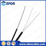 Fio de aço 6 da gota de FTTH 12 preços de fibra óptica do cabo do núcleo G657A1