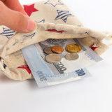 Vário saco feito sob encomenda da moeda do malote da lona