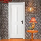 Porte en bois de noix d'entrée avant simple blanche américaine de peinture (GSP2-097)