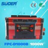 Inverseur pur d'onde sinusoïdale des prix 1kw 24V d'inverseur de pouvoir de Suoer avec l'écran LCD (FPC-D1000B)
