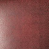 Le cuir Shaped gravé en relief d'unité centrale de Microfiber de suède de melon de Hami pour des chaussures met en sac (HS-M1703)