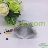 O costume imprimiu o saco de empacotamento alinhado folha do Zipper do chá