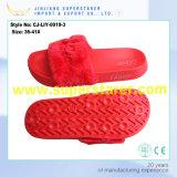 Тапочек шерсти плюша ЕВА сандалии скольжения женщин шерсть единственных цветастая верхняя