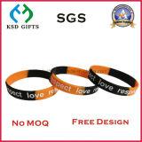 Wristband de 2016 melhores silicones impressos costume de venda/silicone para o presente da promoção