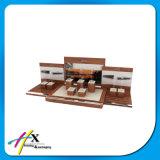 Visualización de madera de acrílico de encargo del caso de exposición de la joyería del reloj