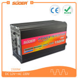 Inverseur de pouvoir de l'inverseur 12V 230V de véhicule de Suoer 1500W (HAD-1500A)