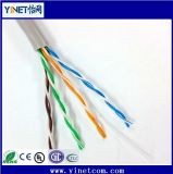 Cable a granel el 1000FT del cobre UTP Cat5e 24AWG 4pr del LAN de la red de Ethernet completa del cable