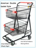 America Style Double Basket Panier d'achat