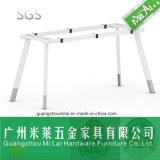 Mesa de reuniones recta de los muebles de la oficina conceptora con la pierna circular del metal