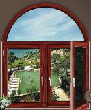Окно Casement Tempered стекла двойника цены Филиппиныы французское алюминиевое