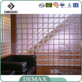 190 * 190 * 80mm Factory Décoratif Transparent Patternglass Block / Glass Brick